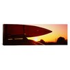 <strong>iCanvasArt</strong> Close-up of a Kayak on a Car Roof at Sunset, San Francisco, California Canvas Wall Art