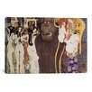 iCanvasArt 'Die Feindlichen Gewalten (The Hostile Forces)' by Gustav Klimt Painting Print on Canvas