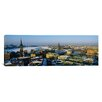 iCanvas Panoramic High Angle View of a City Stockholm, Sweden Photographic Print on Canvas