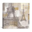 iCanvasArt Eiffel Tower III Canvas Wall Art by Pela and Silverman