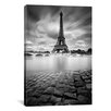 <strong>iCanvasArt</strong> 'Eiffel Tower Study I' by Moises Levy Photographic Print on Canvas