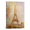 <strong>iCanvasArt</strong> Eiffel Tower by Georges Seurat Painting Print on Canvas