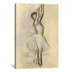 iCanvasArt 'Danseuse Sur Les Pointes' by Edgar Degas Painting Print on Canvas