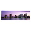 <strong>iCanvasArt</strong> Panoramic Dusk Skyline New Orleans, Louisiana Photographic Print on Canvas