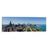 iCanvasArt Panoramic 'Chicago from Grant Park, 2009, Illinois' Photographic Print on Canvas