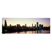 iCanvas Panoramic City Skyline with Lake Michigan and Lake Shore Drive, Chicago, Illinois Photographic Print on Canvas