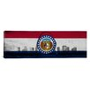 iCanvas Missouri Flag, Grunge State Louis Skyline Panoramic Graphic Art on Canvas