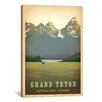 iCanvas 'Grand Teton National Park, Wyoming' by Anderson Design Group Vintage Advertisement on Canvas