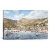 iCanvasArt 'Greek Seaport Town' by Stanton Manolakas Painting Print on Canvas