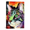iCanvas 'Curiosity Cat' by Dean Russo Graphic Art on Canvas