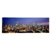 iCanvas Panoramic Buildings Lit Up at Dusk Chicago, Illinois Photographic Print on Canvas