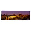 <strong>iCanvasArt</strong> Panoramic Buildings Lit Up at Dusk Kansas City, Missouri Photographic Print on Canvas