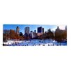 iCanvas Panoramic 'People Skating in an Ice Rink, Manhattan, New York' Photographic Print on Canvas
