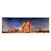 <strong>iCanvasArt</strong> Panoramic Details of the Brooklyn Bridge, New York City Photographic Print on Canvas