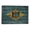 iCanvasArt Delaware Flag, Grunge Wood Boards Graphic Art on Canvas