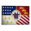 iCanvas Detroit, Michigan Flag - Grunge Painted Graphic Art on Canvas