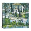 <strong>iCanvasArt</strong> 'Kirche in Cassone' by Gustav Klimt Painting Print on Canvas