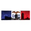 <strong>iCanvasArt</strong> Iowa Flag, Des Moines Cityscape Panoramic Graphic Art on Canvas