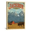 iCanvas 'Jackson, Wyoming' by Anderson Design Group Vintage Advertisement on Canvas