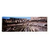 iCanvas Panoramic Tourists in an Amphitheater, Colosseum, Rome, Italy Photographic Print on Canvas