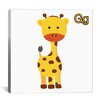 <strong>iCanvasArt</strong> Kids Children G is for Giraffe Graphic Canvas Wall Art