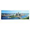 iCanvas Panoramic Daytime Skyline with the Delaware River, Pittsburgh, Pennsylvania Photographic Print on Canvas