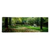 <strong>iCanvasArt</strong> Panoramic Flowers in a Park, Central Park, Manhattan, New York City, New York State Photographic Print on Canvas