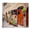 "iCanvasArt ""Flowers on the Wall, Tuscany, Italy 06 - Color"" Canvas Wall Art by Monte Nagler"