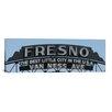 iCanvas Panoramic Fresno Skyline Cityscape (Sign) Photographic Print on Canvas