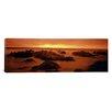 iCanvasArt Panoramic Foggy Beach at Dusk, Pebble Beach, California Photographic Print on Canvas