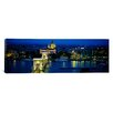 iCanvas Panoramic Chain Bridge, Danube River, Budapest Photographic Print on Canvas