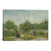 iCanvasArt 'Garden in Montmarte with Lovers' by Vincent van Gogh Painting Print on Canvas