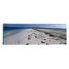 <strong>iCanvasArt</strong> Panoramic Footprints on the Beach, Cienfuegos, Cienfuegos Province, Cuba Photographic Print on Canvas