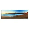 iCanvasArt Panoramic Footprints on the Beach, Golden Gate Bridge, San Francisco, California Photographic Print on Canvas