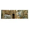 iCanvas Panoramic Close-up of Statues in an Old Ruined Building, Leptis Magna, Libya Photographic Print on Canvas