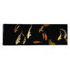 iCanvasArt Panoramic Japanese Koi Fish in the Capitol Aquarium, Sacramento, California Photographic Print on Canvas