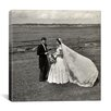 iCanvas John F. Kennedy and Jacqueline Bouvier Kennedy on their Wedding Day Canvas Wall Art