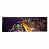 iCanvas Panoramic Buildings Lit Up at Night Detroit, Michigan Photographic Print on Canvas