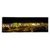 iCanvas Panoramic Buildings Lit Up at Night, Las Vegas, Nevada Photographic Print on Canvas