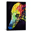 iCanvas 'Greyhound' by Dean Russo Graphic Art on Canvas