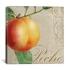 "<strong>iCanvasArt</strong> ""Fruits Classique (Peach)"" Canvas Wall Art by Colors Bakery"
