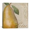 "<strong>iCanvasArt</strong> ""Fruits Classique II (Pear)"" Canvas Wall Art by Color Bakery"
