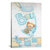 <strong>iCanvasArt</strong> Kids Children It's a Boy with Teddy Bear Painting Print Canvas Wall Art
