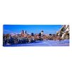 iCanvas Panoramic Denver City in Winter, 2011, Colorado Photographic Print on Canvas