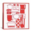 iCanvas Kitchenware Collage Graphic Art on Canvas