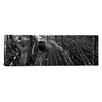iCanvasArt Panoramic 'High Angle View of a Train on Railroad Track in a Shunting Yard, Germany' Photographic Print on Canvas