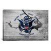 iCanvas Coast Guard Flag, Coast Guard Vintage with Wood Planks Graphic Art on Canvas