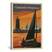 <strong>iCanvasArt</strong> Coastal America by Anderson Design Group Vintage Advertisement on Canvas