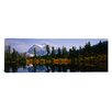 iCanvasArt Panoramic Mt Rainier, Mt Rainier National Park, Washington State Photographic Print on Canvas