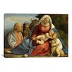 iCanvasArt Christian 'Madonna and Child, Little John the Baptist, Peter and Anthony the Hermit' Painting Print on Canvas